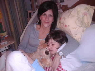 heather and hannah during hospital stay for status epilepticus